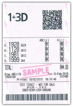 1+3D iBOX Sample Ticket